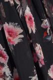 Blumen-Drucken der heiße gekräuselte Verkauf 2017 Seide-Chiffon- Minikleid für Frauen
