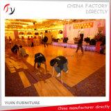 Disco de madera amarillo Dance Floor (DF-22) de la fabricación de la fábrica de la chapa de la teca