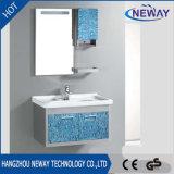 シンプルな設計の壁のコーナーの浴室の虚栄心