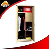غرفة نوم فولاذ أثاث لازم معدن ملابس يرتدي خزانة ثوب مع ساحب داخليّ
