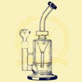 De in het groot Dikke Waterpijpen van het Glas met Twee Monden 14.5mm Male&Female