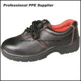 Zapato de trabajo barato de acero de los hombres del cuero genuino de la punta y de la placa