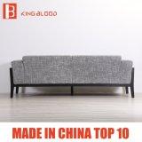최신 판매 회색 색깔 실내 장식품 직물 소파 소파 무대 디자인