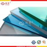 Het UV Met een laag bedekte Duidelijke Groenachtig blauwe Stevige Blad van het Polycarbonaat