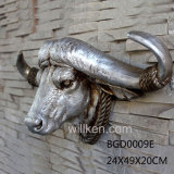 Polyresin 동물성 암소 훈장 두개골 Bull 맨 위 조각품
