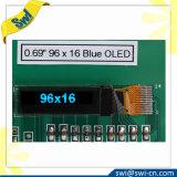 Экран цвета OLED индикации 96X16 0.69 дюймов OLED голубой белый