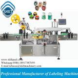 A fábrica automática enlata diretamente a máquina de etiquetas Top&Sides da etiqueta