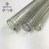 Boyau transparent de fil d'acier de PVC de qualité