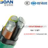 Tfxp, Al/XLPE/Hpde/PVC, Tiefbaukabel, 0.6/1kv, HD 603.5m