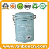Олово круглого металла воздухонепроницаемое для еды и пить упаковывая коробку