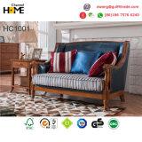 Il sofà antico del cuoio del salone di stile di Amercian di disegno ha impostato per mobilia domestica (AD1001)
