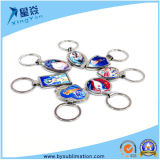 Do metal feito sob encomenda do Sublimation da corrente chave do logotipo dos presentes anel chave