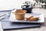 손잡이 또는 뷔페 소스 접시 (QQ1620-03)를 가진 100%년 멜라민 소스 접시