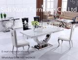 ホーム家具のための椅子の食事を用いる中国の製造者の銀のステンレス鋼フレームのダイニングテーブルの大理石の上