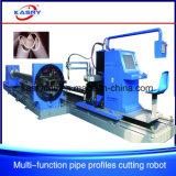 Macchinario quadrato di taglio alla fiamma del plasma di CNC di profilo del tubo delle protezioni di mucchio