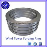 La boucle roulée sans joint d'acier inoxydable pour des turbines de vent a modifié autour de la boucle en acier