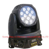 12PCS 12W RGBW 4in1 LED bewegliches Hauptwäsche-Summen-Licht
