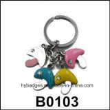Trousseaux de clés irréguliers de dessin animé, bel insigne principal mignon (GZHY-KA-028)