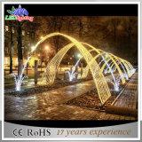 Indicatori luminosi esterni bianchi caldi di motivo dell'arco della decorazione 3D LED di natale