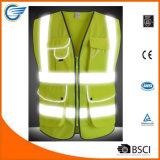 Тельняшка безопасности фронта застежки -молнии видимости типа 2 высокая с отражательными прокладками