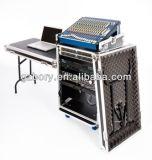16u DJ Arbeitsplatz-Flug-Fall-Zahnstange mit seitlichen Tischen und Schräge des Mischer-10u