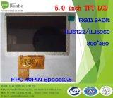 """écran de TFT LCD de 5.0 """" 800X480 RVB, module d'affichage à cristaux liquides, Ili6122, 40pin avec l'écran tactile d'option"""