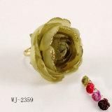 Rose avec argenter l'anneau de poudre (WJ-2059)