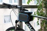 携帯電話スクリーンの接触ホールダーの自転車の上の管フレーム袋が付いているバイク袋