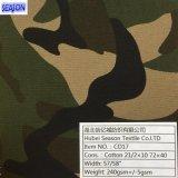 T/C65/35 20*20 108*58 200GSM gefärbtes Gewebe der Twill-Webart-T/C für Arbeitskleidung