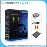 Fone de ouvido sem fio estereofónico branco de Bluetooth da condução de osso do esporte
