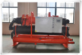 190kw 산업 두 배 압축기 실내 스케이트장을%s 물에 의하여 냉각되는 나사 냉각장치