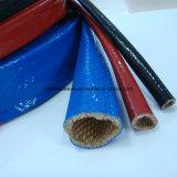 Chemise hydraulique anti-calorique ignifuge de couverture de boyau de fibre de verre de silicones