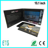 10, carte de voeux visuelle d'affichage à cristaux liquides MP3 MP4 de sexe sonore de 1 pouce petite