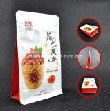 편평한 바닥은 주머니 알루미늄 호일 Zip 자물쇠 1회분의 커피 봉지 매트에 의하여 박판으로 만들어진 강직한 음식 비닐 봉투를 위로 서 있다
