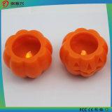Indicatore luminoso a pile della candela della cera LED di figura della zucca