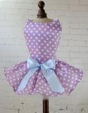 Robe confortable d'animal familier de chemise de crabot de polka de POINT de crabot de robe de vêtements mignons de crabot