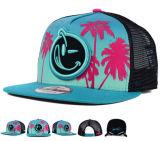 Sombrero plano del casquillo del Snapback del algodón de Bill del bordado rosado del blindaje