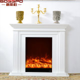 Guangdong Manufactures French Style Carved Wood Fireplace Mantel (GSP14-002)