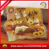専門の小型柔らかいPeachskin総括的な動物デザイン毛布の投球のMicrofiberの羊毛毛布