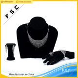 Fashion Gorgeous Crystal White Gold Tassels Wedding Girl Jewelry Set