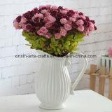 18 gambi con il mini mazzo di seta del fiore artificiale della Rosa delle 54 teste con differenti colori