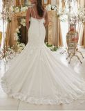 2017 robes de mariage nuptiales de long train perlé de cristal CT204