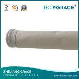 Sachet filtre d'usine de tissu direct de fibre de verre avec PTFE