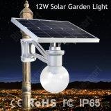 Indicatore luminoso solare astuto del giardino del sensore di movimento 2016 nuovo 12watts