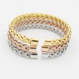 Glänzendes Edelstahl-Ineinander greifen-Armband für Geschenk-Schmucksachen