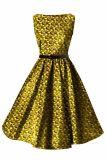 Senhoras do estilo da forma que vestem cera africana vestidos impressos de Ancara