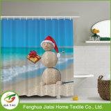 Tenda di acquazzone decorativa del pupazzo di neve del poliestere occidentale su ordinazione bella per i capretti