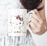 180ml venden al por mayor las tazas de café de cerámica del recorrido con la impresión modificada para requisitos particulares