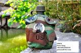 Tazza militare dell'alluminio della bottiglia di acqua di Camo dello spaccio di bevande dell'esercito
