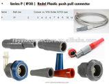 Connecteur en plastique circulaire/plot libre avec la noix de bague de câble sans allégement de courbure